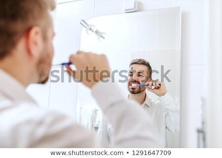 moço · homem · beleza · retrato · dentes - foto stock © ambro