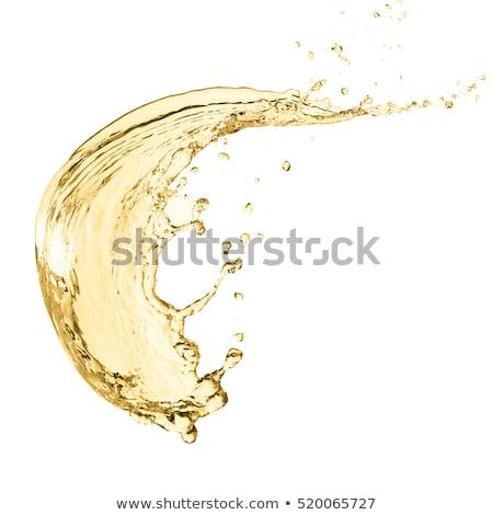 Beyaz şarap sıçrama şarap kadehi parti içmek beyaz Stok fotoğraf © toaster