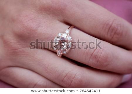 Frau groß Diamant Bild Gesicht glücklich Stock foto © dolgachov