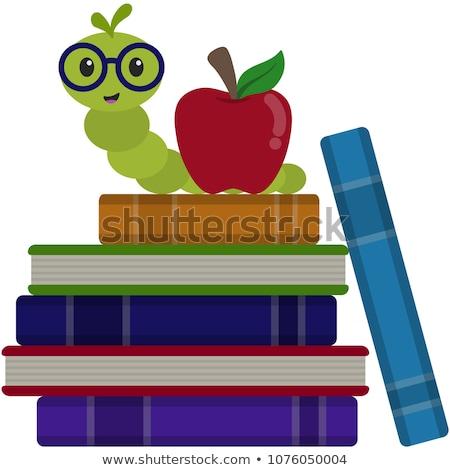 Pomme rat de bibliothèque illustration ver sur Photo stock © lenm