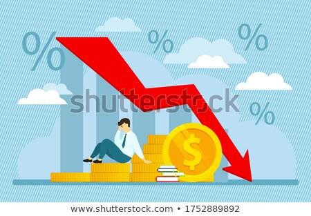 inestable · dólar · negocios · moneda · mano · empresario - foto stock © 3mc