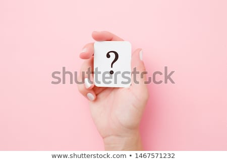 hand holding up a question mark from the top Stock photo © stryjek