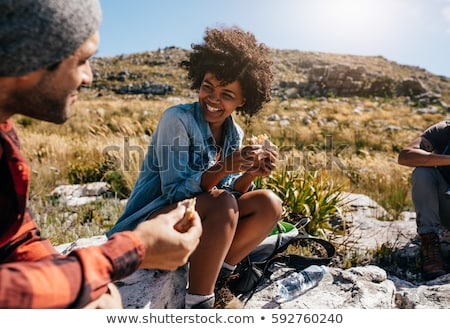 Group of hikers taking a break Stock photo © photography33