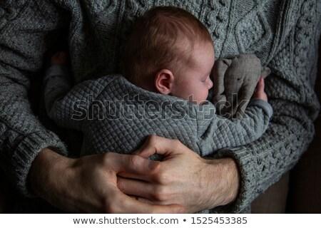 Сток-фото: ребенка · спящий · груди · детей · человека · Председатель