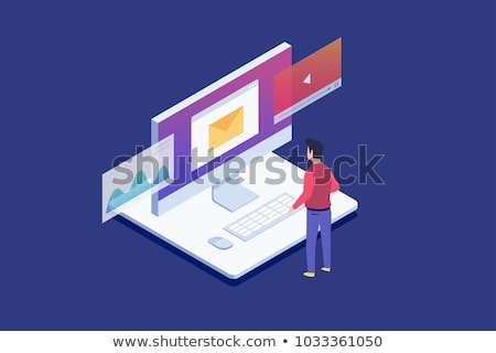 Workers with email symbol Stock photo © photography33