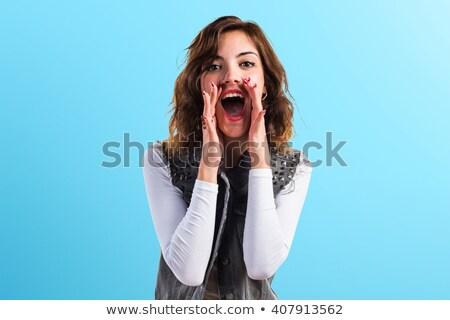 glamour woman shout out loud stock photo © juniart
