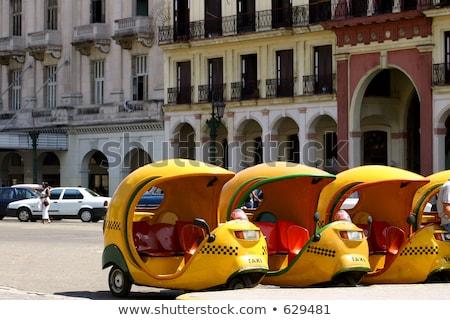 Moderne taxi Havanna Cuba auto teken Stockfoto © haraldmuc