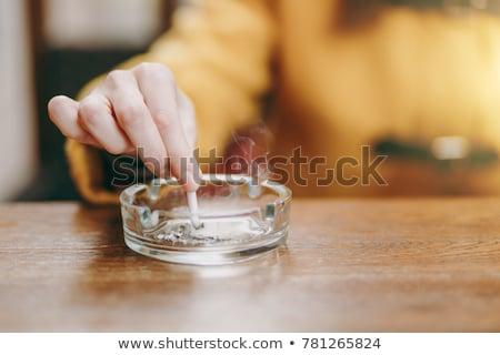 Cigaretta hamutartó egészség gyógyszer stressz szabadság Stock fotó © photography33