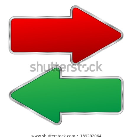silver question sign and red arrows Stock photo © marinini