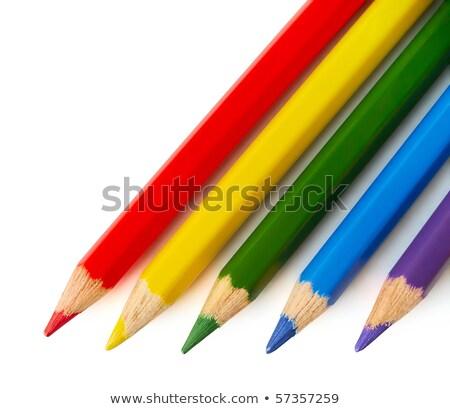öt · színes · könyvjelzők · izolált · fehér · üzlet - stock fotó © ruslanomega