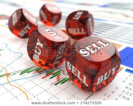 Mercado de ações comprar compra financeiro símbolo carrinho de compras Foto stock © Lightsource