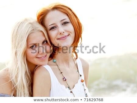 два рай моде девушки волос Сток-фото © konradbak