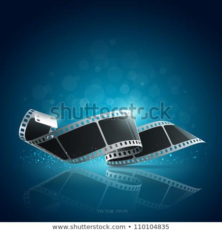 Filmstrip spiraal macro negatieve witte frame Stockfoto © chesterf
