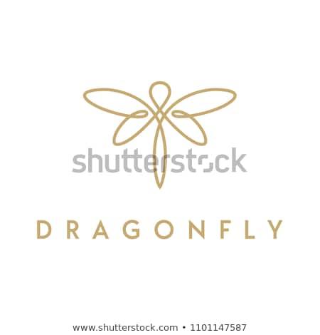 ベクトル アイコン トンボ 睡眠 昆虫 翼 ストックフォト © zzve