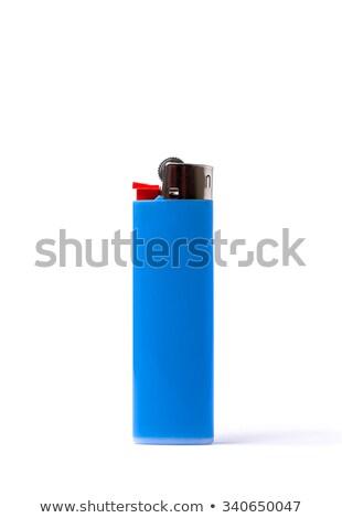Yalıtılmış mavi çakmak basit beyaz plastik Stok fotoğraf © eldadcarin