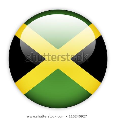 Glass button of the flag of Jamaica Stock photo © maxmitzu