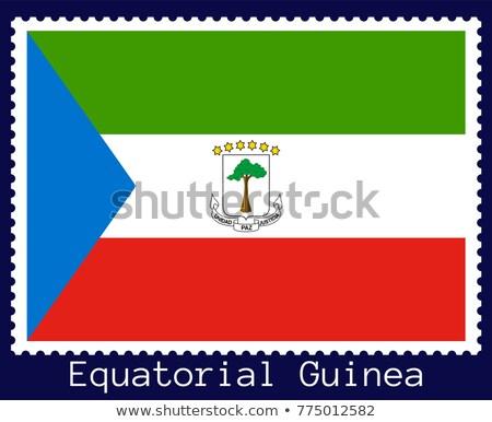 赤道ギニア ポスト スタンプ 印刷 フランス語 碑文 ストックフォト © Taigi