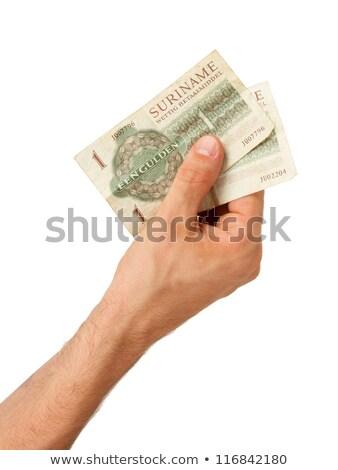 öreg pénz kezek öregasszony izolált nő Stock fotó © michaklootwijk