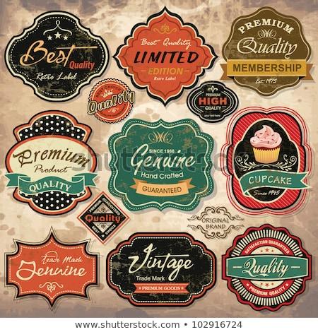 Gyűjtemény klasszikus retro grunge vásár címkék Stock fotó © Luppload
