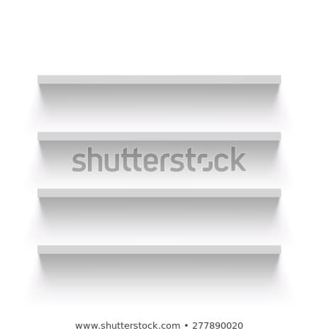 Raf beyaz duvar örnek eps vektör Stok fotoğraf © obradart