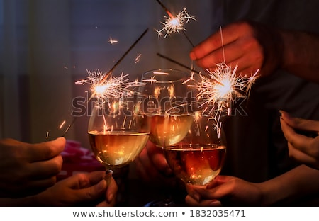 wineglass sparkler Stock photo © Paha_L