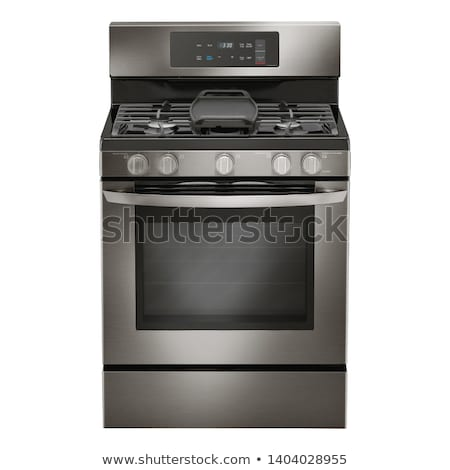Gas horno cocina primer plano ardor llamas Foto stock © franky242