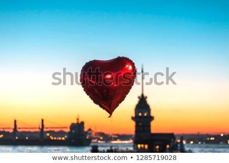 Valentijnsdag ballonnen structuur 3D geïsoleerd witte Stockfoto © ixstudio