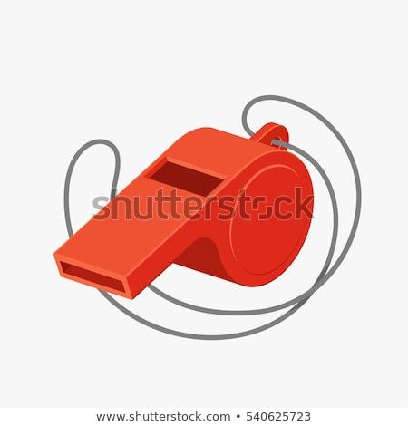 Silbar blanco deporte sonido objeto plata Foto stock © magraphics