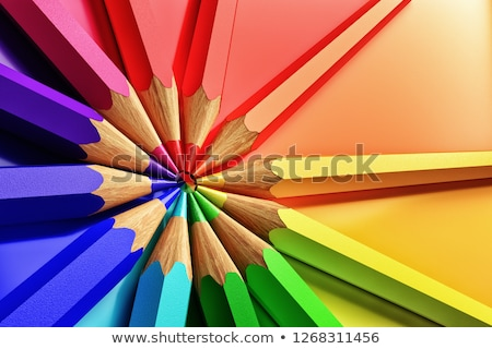 colored pencils and rainbow stock photo © mady70