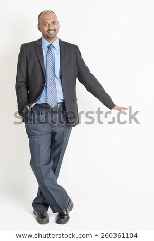 ázsiai férfi kéz láthatatlan szalag egészalakos Stock fotó © szefei