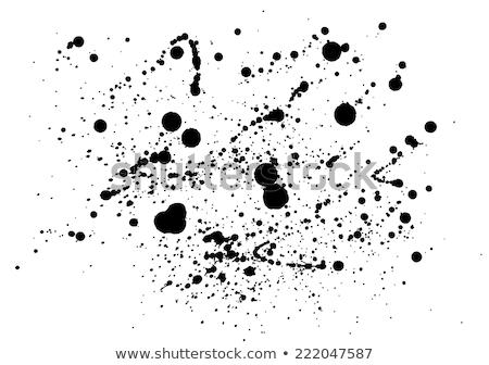 Negro pintura salpicaduras sucio tinta disposición Foto stock © ArenaCreative