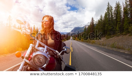 Blonde Woman On a Motorcycle Stock photo © ArenaCreative