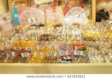 Gioielli mista colorato molti gioielli plastica Foto d'archivio © lunamarina