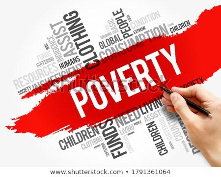 poverty the wordcloud concept stock photo © tashatuvango