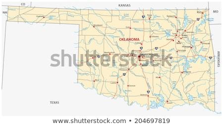 Térkép Oklahoma utazás piros Amerika USA Stock fotó © rbiedermann