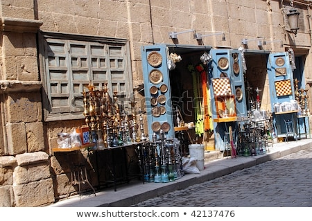 narguileh shisha pipes in cairo egypt Stock photo © travelphotography