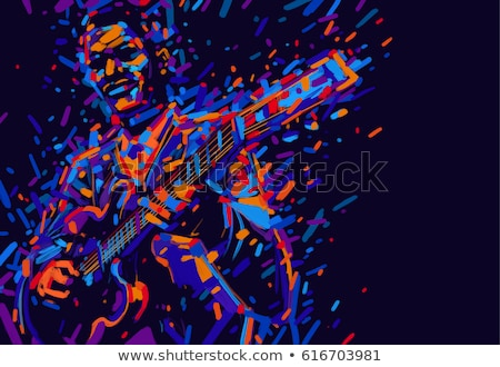 saxophonist on a grunge background Stock photo © isaxar