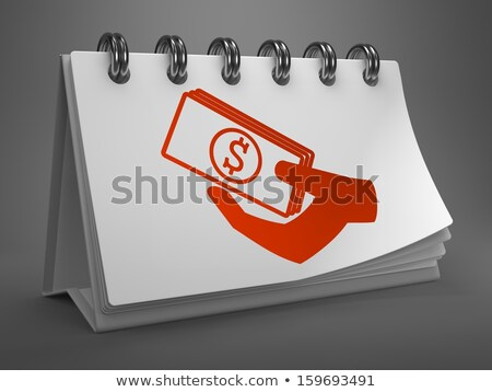 Desktop Calendar with Red Icon of Donate. Stock photo © tashatuvango