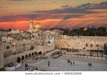 the western wall in jerusalem israel stock photo © andreykr