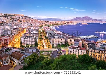 Napoli görmek güzel marina İtalya su Stok fotoğraf © sailorr