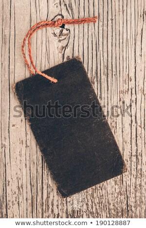 Régi papír címke természetes zsákvászon papír textúra Stock fotó © oly5