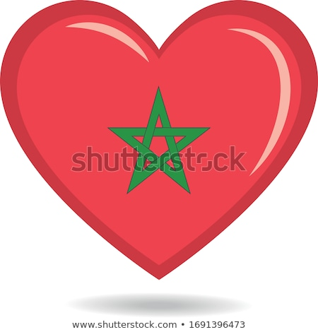 Love Morocco symbol. Heart flag icon. Stock photo © tkacchuk