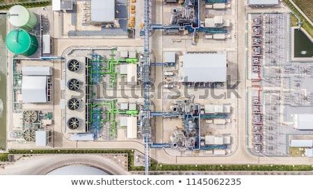 Ver blue sky rede fábrica industrial eletricidade Foto stock © mycola