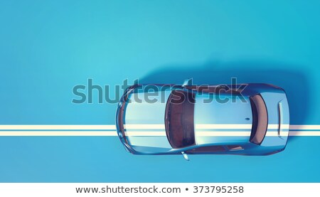 Auto stile fronte view giallo Foto d'archivio © maros_b