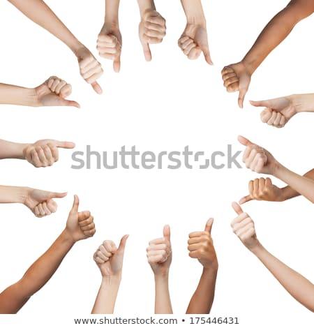 Ludzi ręce kółko gest Zdjęcia stock © dolgachov