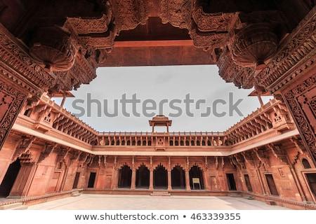 Rojo fuerte India fachada unesco mundo Foto stock © meinzahn