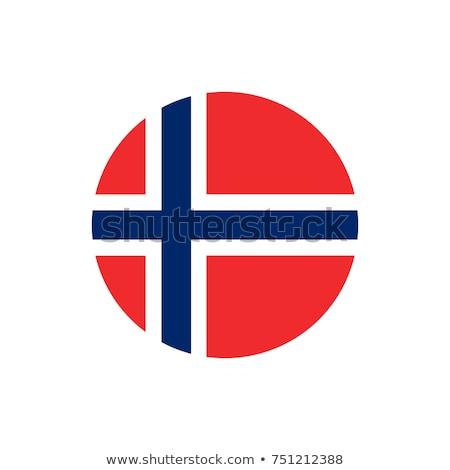 Noors vlag icon geïsoleerd witte internet Stockfoto © zeffss