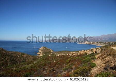 praia · ver · areia · pier · histórico · torre - foto stock © joningall