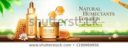 üveg színes méhsejt étel ősz szín Stock fotó © shawlinmohd