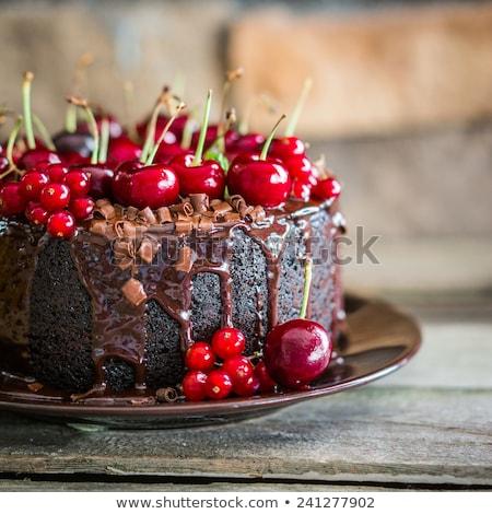kiraz · kırmızı · yemek · tatlı - stok fotoğraf © petrmalyshev